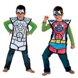 Déguisement Super-héros à colorier