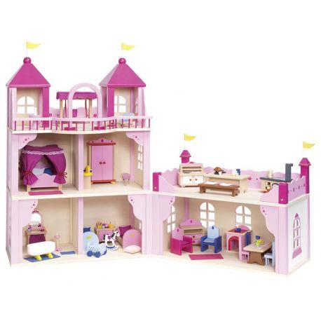 Chateau royal pour poupées complet
