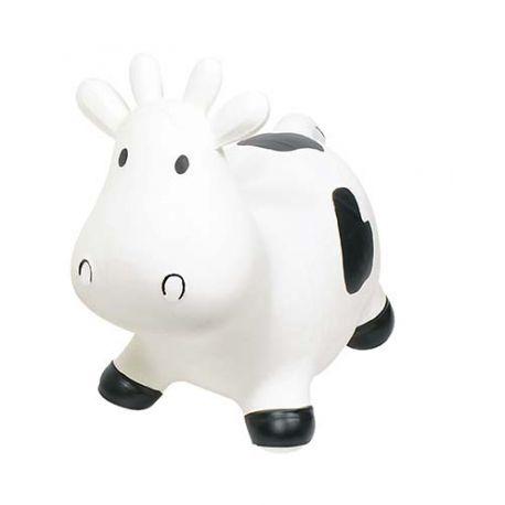 Vache sauteuse noire et blanche