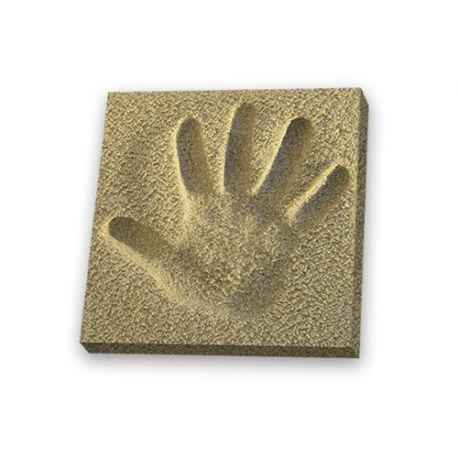 Empreinte Pied 18x25 cm sur sable avec cadre bois