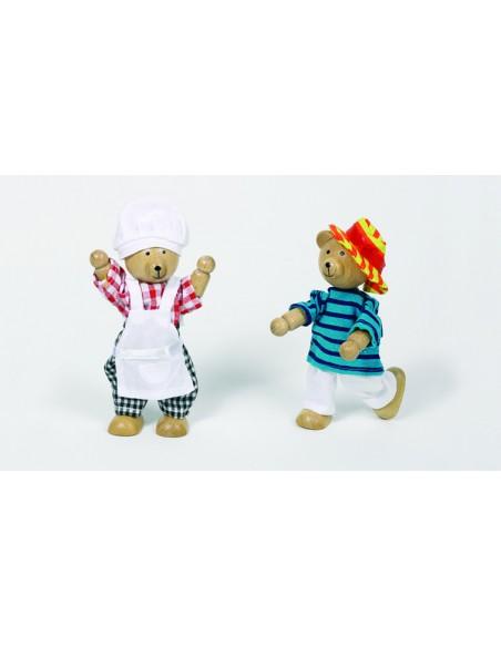 2 ours à habiller et leur garde-robe