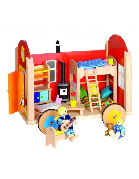 Maison de poupées 3 niveaux
