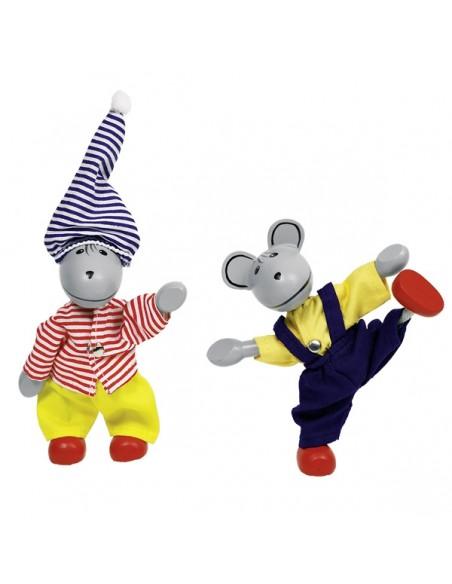 2 souris à habiller et leur garde-robe